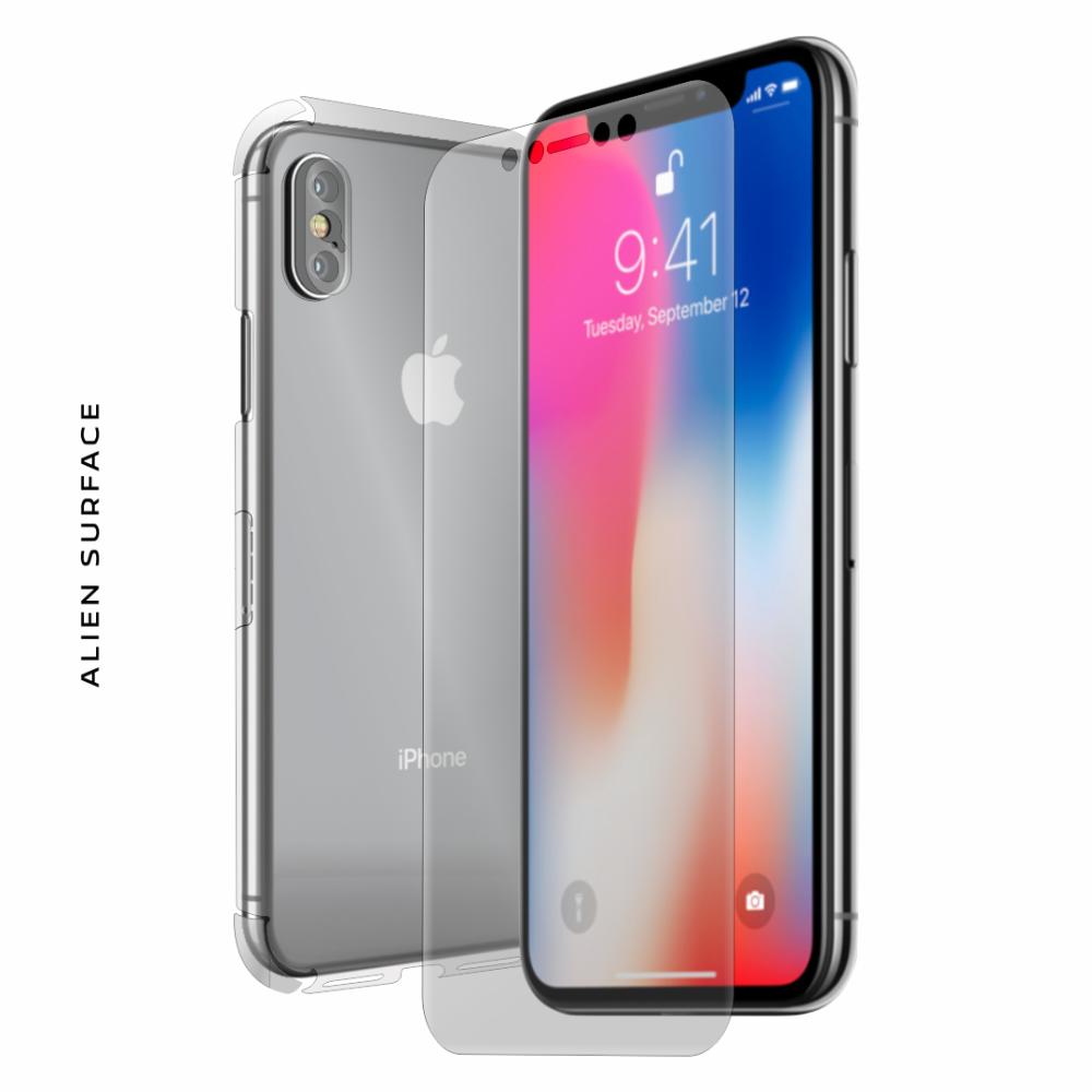 Apple iPhone X folie protectie Alien Surface