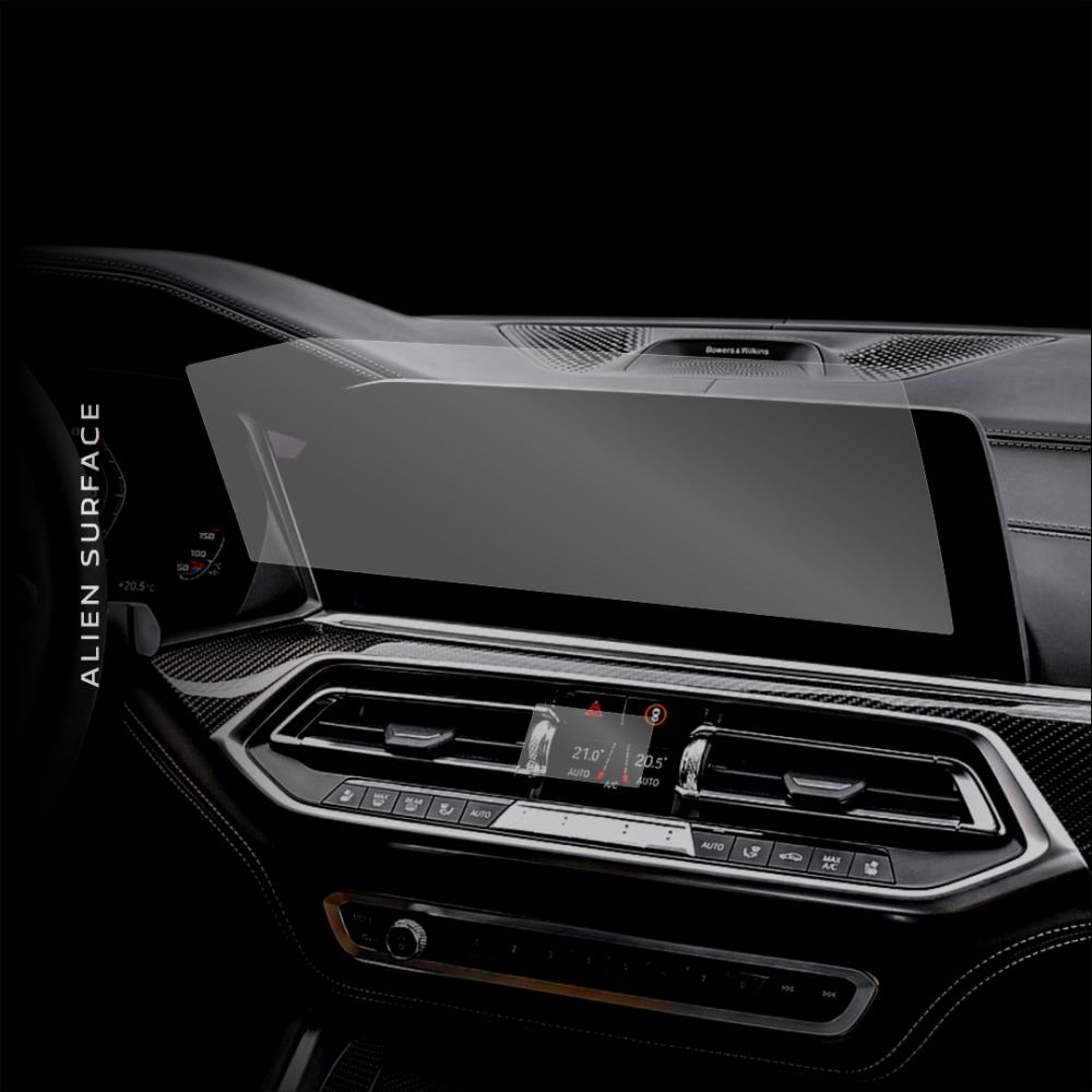 Folie ecran navigatie si clima BMW X6 (2020), protectie Alien Surface