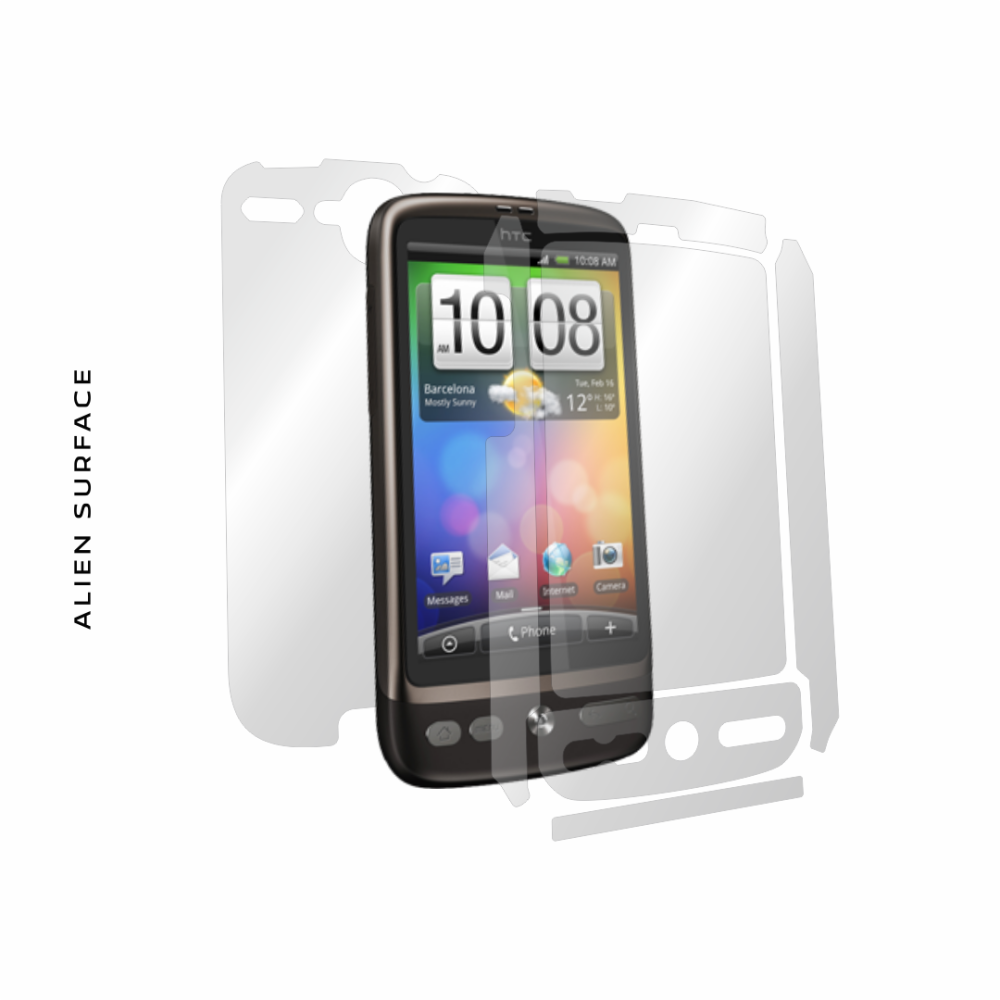 HTC Desire folie protectie Alien Surface
