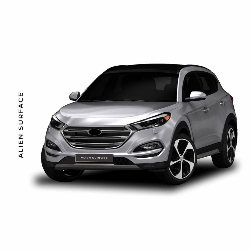 Hyundai Tucson IX35 2015-2016 Display Multimedia folie protectie Alien Surface