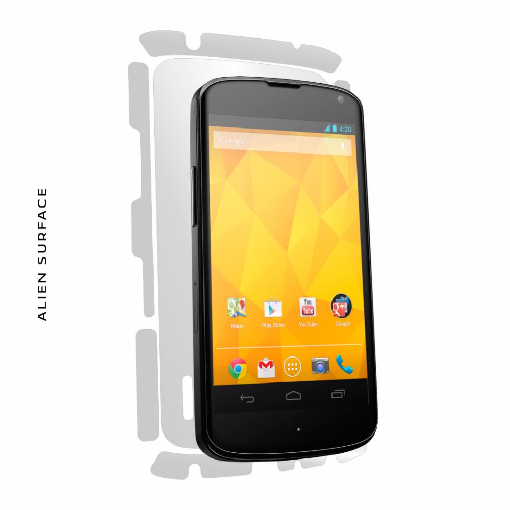 LG Nexus 4 folie protectie Alien Surface