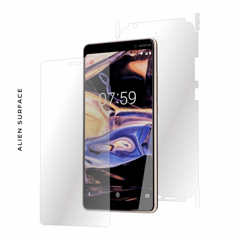 Nokia 7 Plus folie protectie Alien Surface