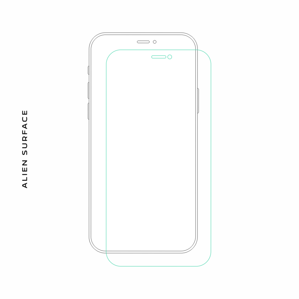 Samsung Galaxy S2 Plus folie protectie Alien Surface