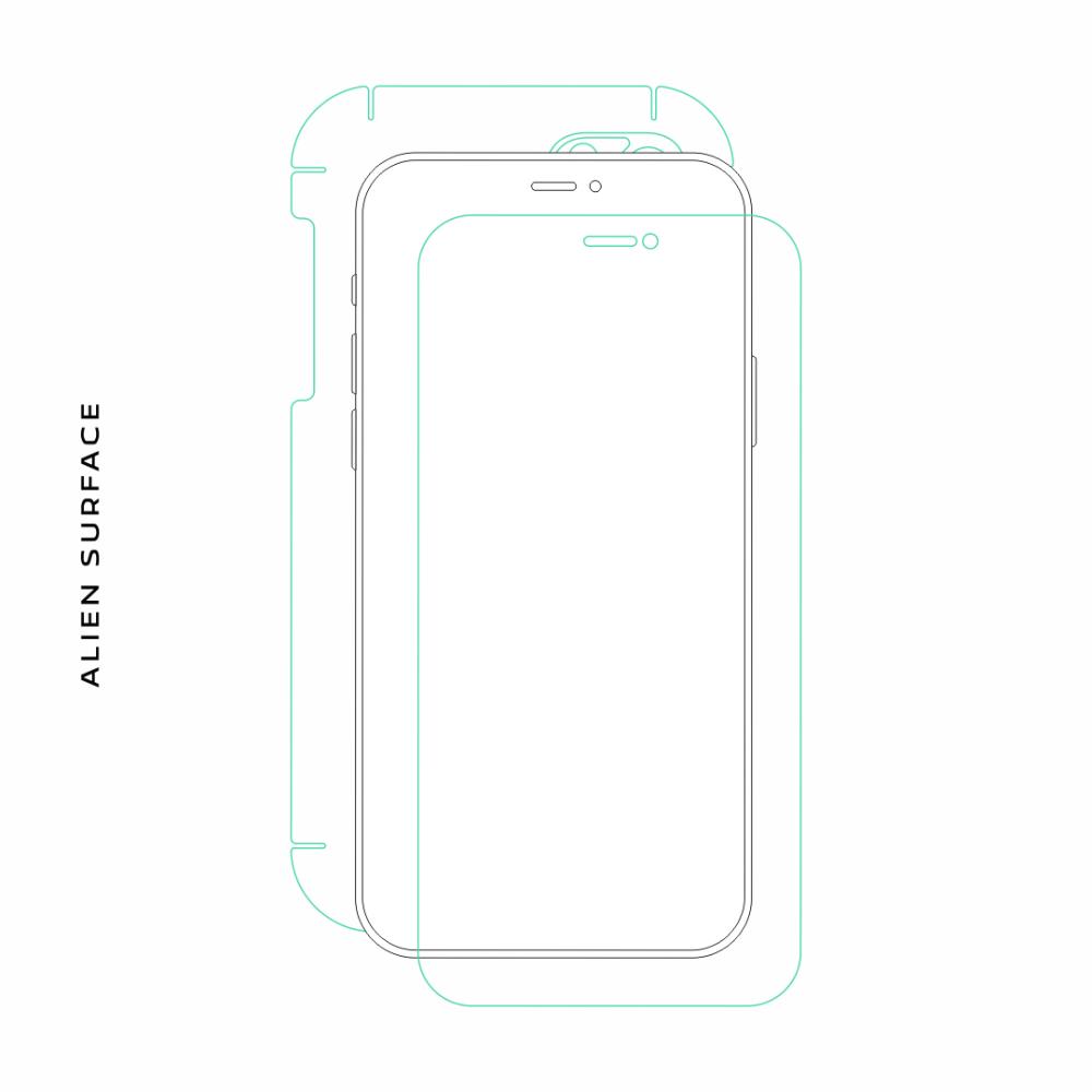 HTC One Mini folie protectie Alien Surface
