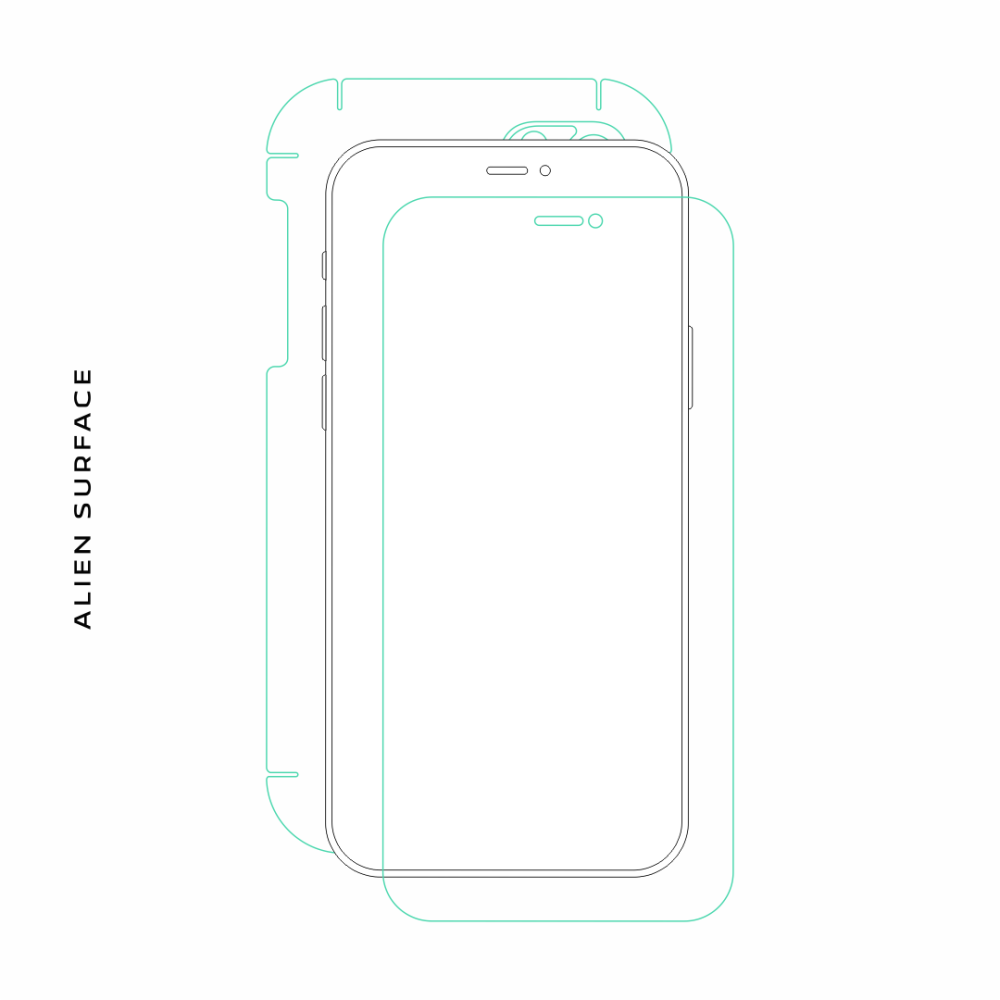Motorola Defy folie protectie Alien Surface