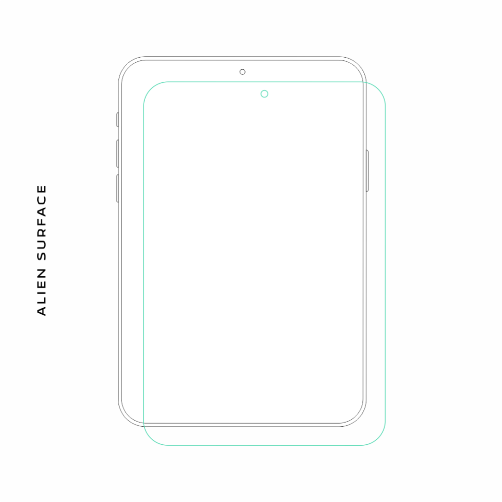 Samsung Galaxy Tab 3 Lite 7.0 folie protectie Alien Surface