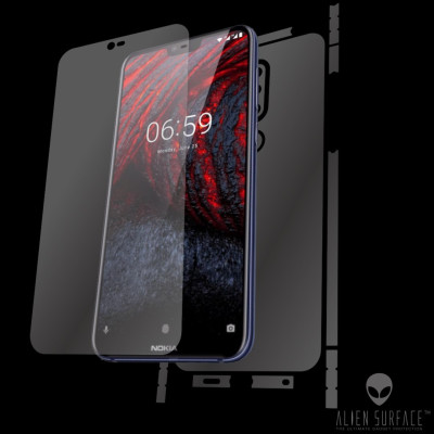Nokia 6.1 Plus (2018) folie ecran, carcasa, laterale