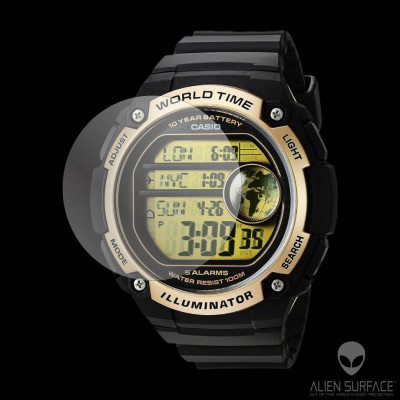 Casio AE-3000W folie protectie Alien Surface