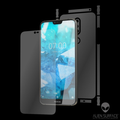 Nokia 7.1 (2018) folie Alien Surface XHD ecran, carcasa, laterale