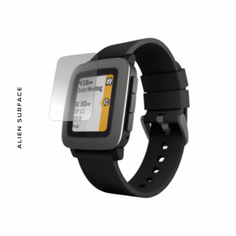 Pebble Time folie protectie Alien Surface