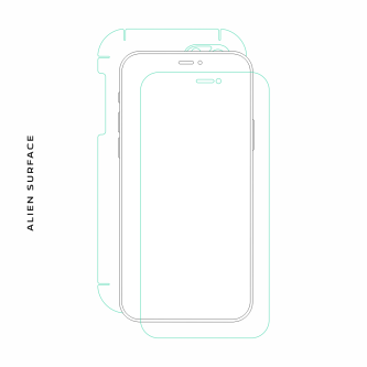 Nokia X folie protectie Alien Surface