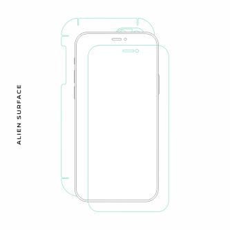 HTC One S folie protectie Alien Surface