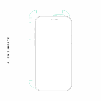Sony Ericsson Xperia Mini folie protectie Alien Surface
