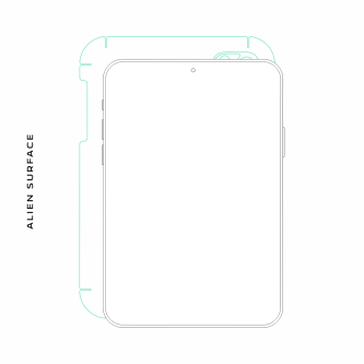 Apple iPad folie protectie Alien Surface