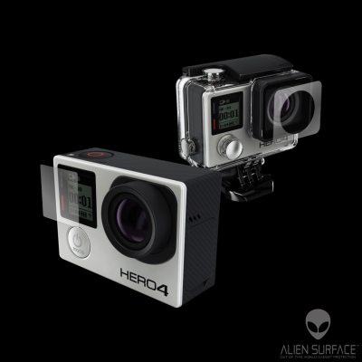 GoPro Hero 4 Black Edition folie protectie Alien Surface
