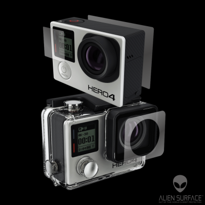 GoPro Hero 4 Silver Edition folie protectie Alien Surface