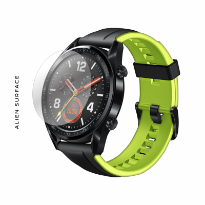 Huawei Watch GT 46mm Fluorescent Green folie protectie Alien Surface